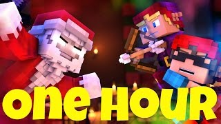 "One Hour ♫""Santa Claus is Running This Town""♫ A Minecraft Parody"