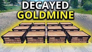 INSANELY LOADED DECAYED BASE GOLDMINE - Rust Solo Survival Gameplay 6/7