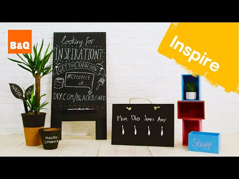 Chalkboard paint four ways #DIYcuts