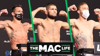 Khabib Nurmagomedov, Justin Gaethje & Michael Chandler all make championship weight at UFC 254