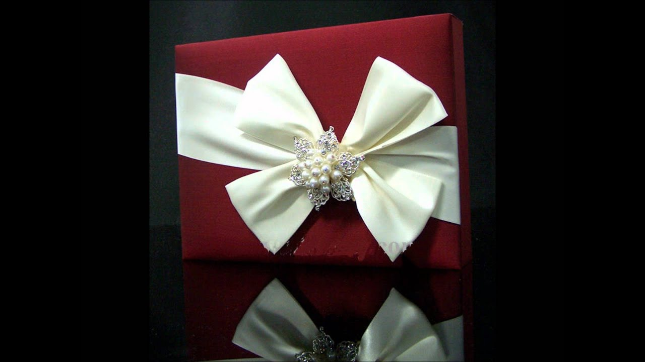 Carlo-Cards Couture Silk wedding invitation boxes - YouTube