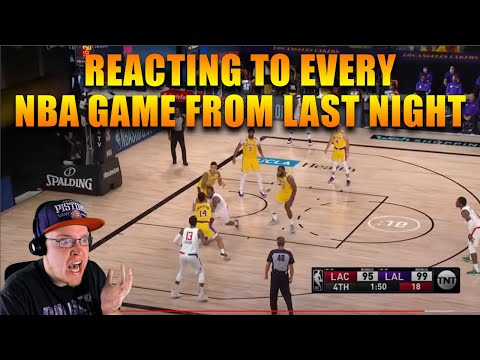 I MISSED OPENING NIGHT! REACTING TO EVERY NBA GAME FROM LAST NIGHT | July 30th 2020