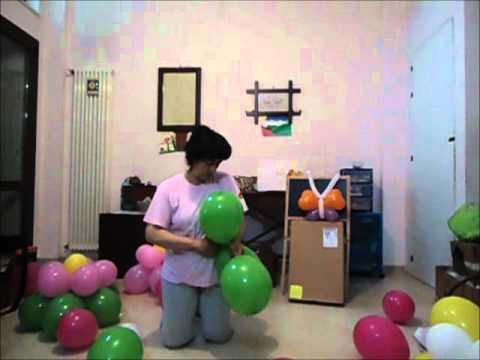 Favoloso Tutorial passo passo per creare il fiore di palloncini - YouTube YB78