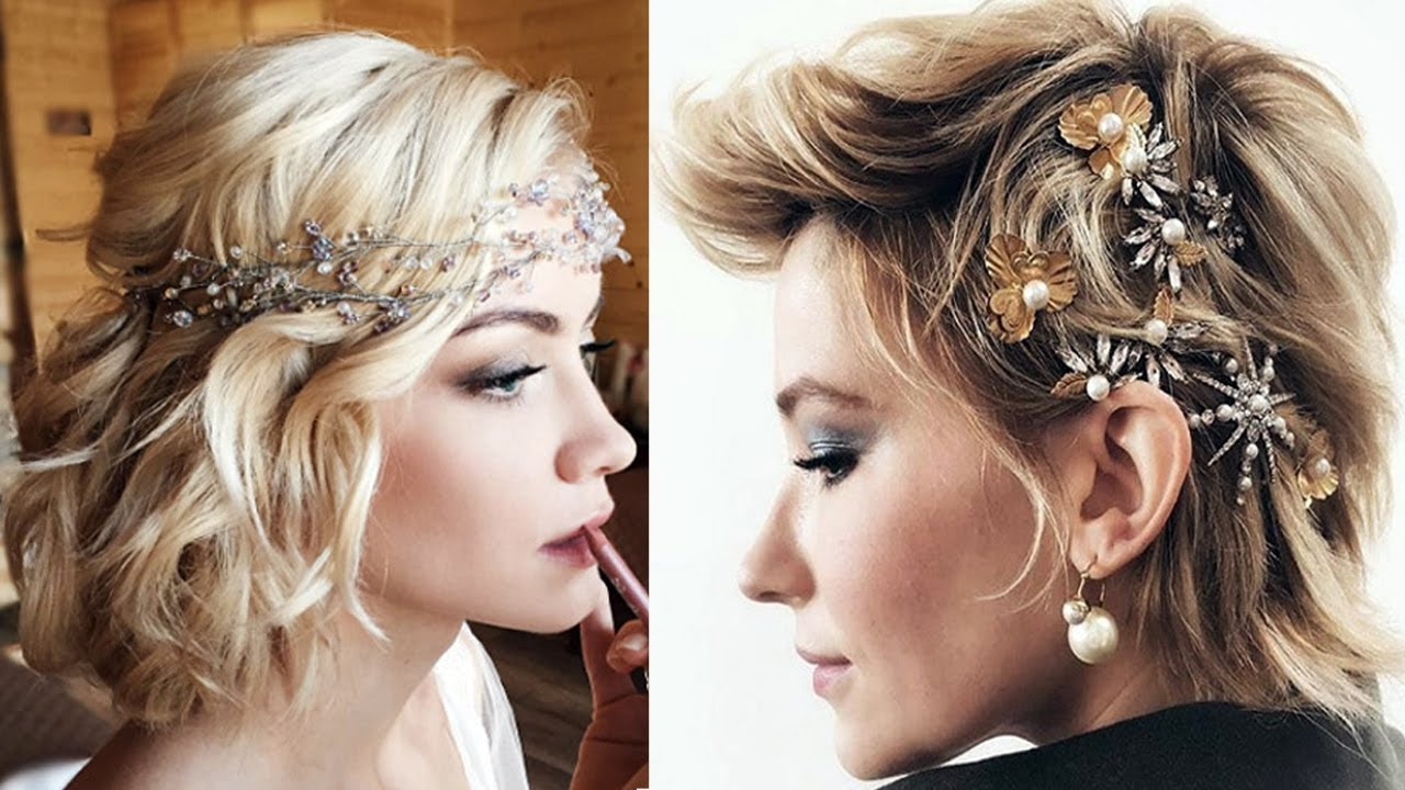 40 short hairstyles for wedding party - bridesmaids short hairstyles