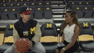 Michigan Men's Basketball Interview with Andrew Dakich, Moritz Wagner, and DJ Wilson
