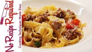 Fettucini With Sausage & Fennel - Noreciperequired.com