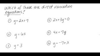 direct variation part 1