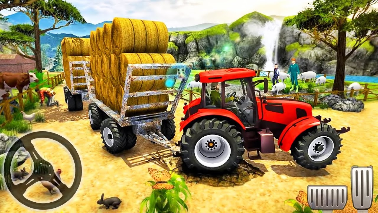Hill Cargo Tractor Trolley Driver – Farming Simulator 2019  – Android GamePlay