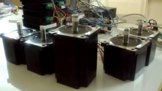step motor 4 5 nm 8 5nm 4 2 a src ve 5 eksen cnc kontrol kartı testi 2