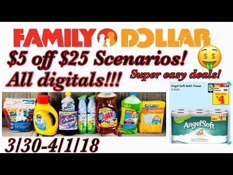 Family Dollar $5 Off $25 Scenario! Toilet Paper Deal!!! 3/30/18