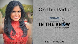 Ruby Bhandari, Designer of Silk Threads live on the radio in Dallas/Fort Worth
