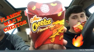 BURGER KING FLAMIN' MAC N' CHEETOS REVIEW/TASTE TEST!!!!