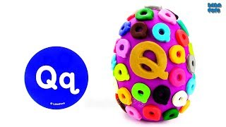 Learn-Q-Letter | Spelling Words that Start with the Letter Q | Surprise Egg Play Doh |Lesson 17