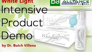 White Light   Intensive Product Demo by Dr.  Butch Villena