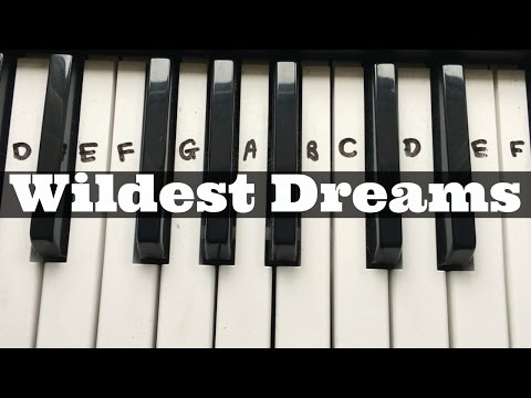 Wildest Dreams - Taylor Swift | Easy Keyboard Tutorial With Notes (Right Hand)