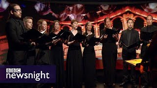 BBC Singers and Sofi Jeannin perform Bach's St John Passion - BBC Newsnight