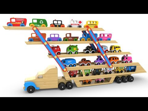 Thumbnail: Colors for Children to Learn with Car Transporter Toy Street Vehicles - Educational Videos