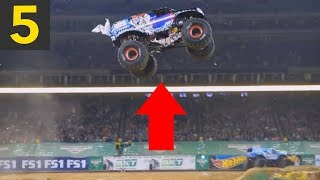 Top 5 BIG AIR Monster Truck Jumps (reupload)