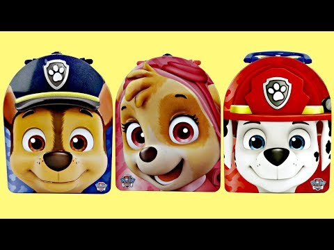 PAW PATROL Lunch Tin Boxes With Chase, Skye & Marshall