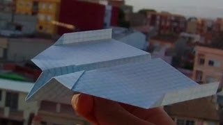 Very Good Origami Paper Airplane Tutorial+test Flight