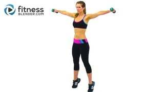 Beginner Boot Camp Workout -- Easy Toning & Low Impact Cardio Workout with Fitness Blender