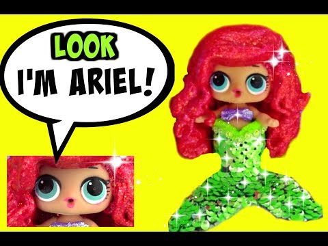 LOL Surprise Doll STUNNING ARIEL CUSTOM ♥ LOL Lil Sister BABY DOLL ARIEL CUSTOM Coming Soon!