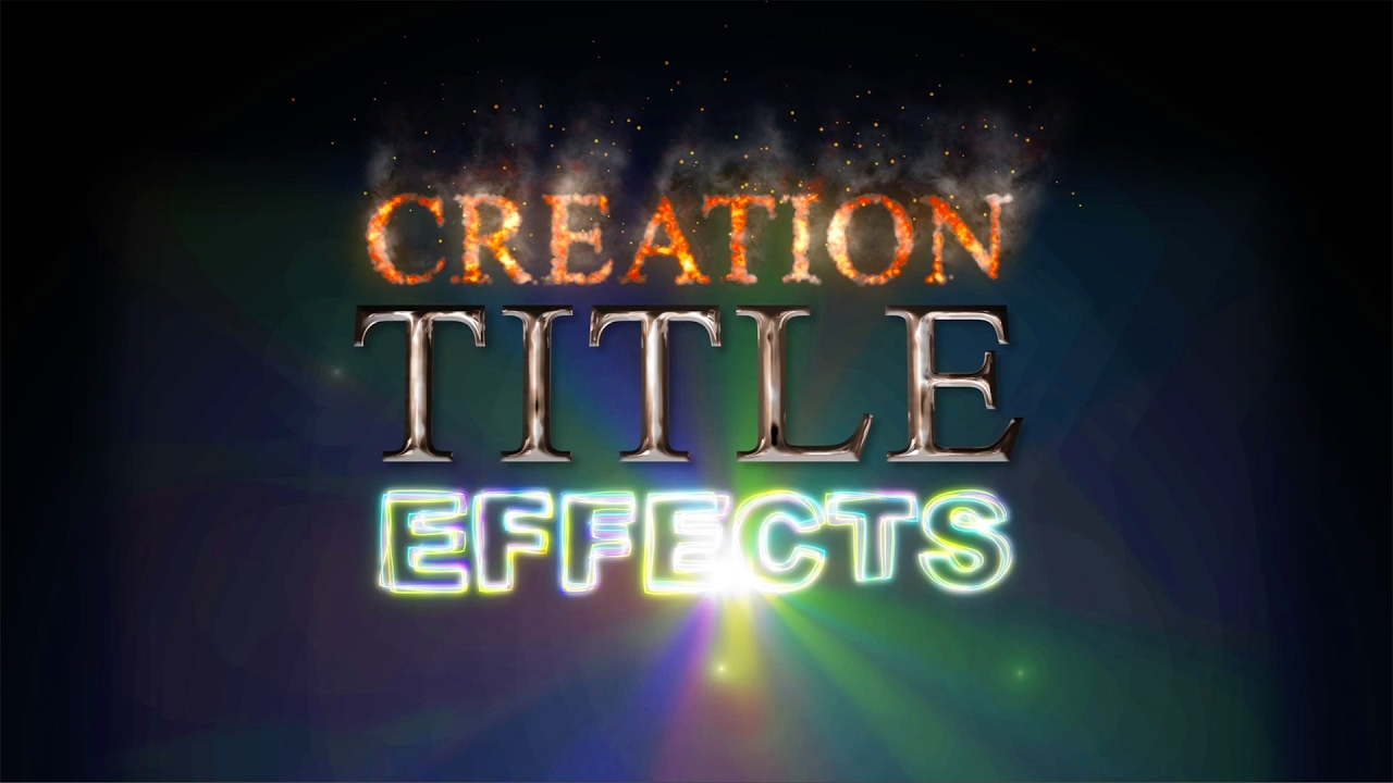 Creation Title Effects for After Effects
