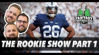 Fantasy Football 2018 - The Rookie Show Part 1 RB  WR - Ep 542