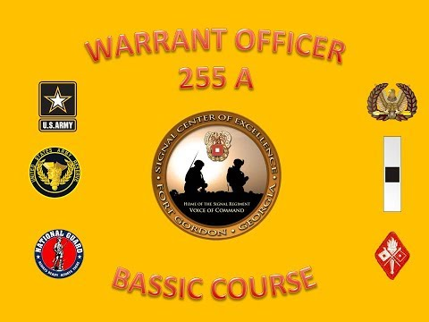 US Army Warrant Officer Basic Course - Signal Branch