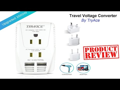 PRODUCT REVIEW: Voltage Converter And Travel Adapter. ✈