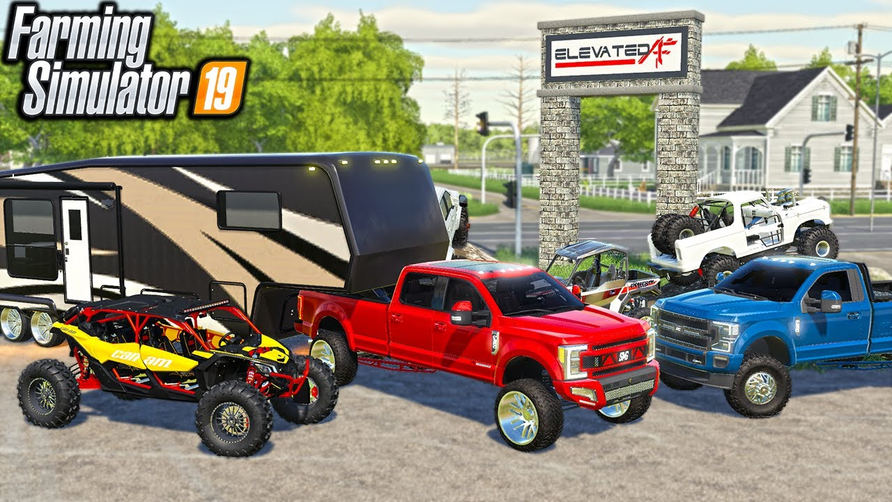 RICH REDNECK BUILDS $500,000 CAMPING SETUP (NEW 2022 FORD F350!) | (ROLEPLAY) FARMING SIMULATOR 2019
