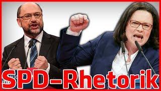 Die Rhetorik der SPD-Parteitags - Reden von Andrea Nahles, Kevin Kühnert, Martin Schulz