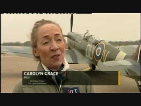 Interview with Carolyn Grace - Spitfire Pilot on 75th Anniversary flight