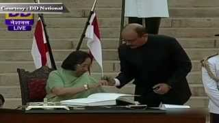 Ms Najma Heptullah sworn-in as Cabinet Minister in new Government