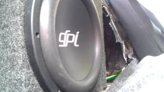 12'' GPI Attitude Subwoofer excursion on memphis 4k mono