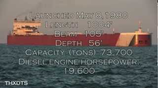 EDGAR B. SPEER FREIGHTER ON LAKE ST. CLAIR  HD 1080P