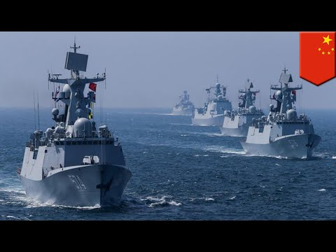 South Sea Fleet: China shows off massive fleet in South China Sea naval exercises - TomoNews