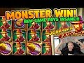 HUGE WIN!! Da Vincis Treasure BIG WIN - Online slots from Casino LIVE stream