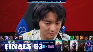 DWG vs SN - Game 3 | Grand Finals S10 LoL Worlds 2020 PlayOffs | DAMWON Gaming vs Suning G3 full