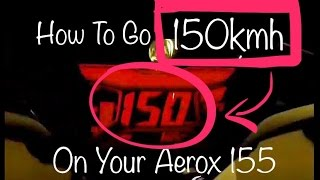 YAMAHA AEROX 155 Top Speed MODIFICATION!!! TDR PULLEY