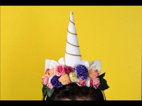 Manualidad diadema de unicornio youtube - Como hacer un cono ...