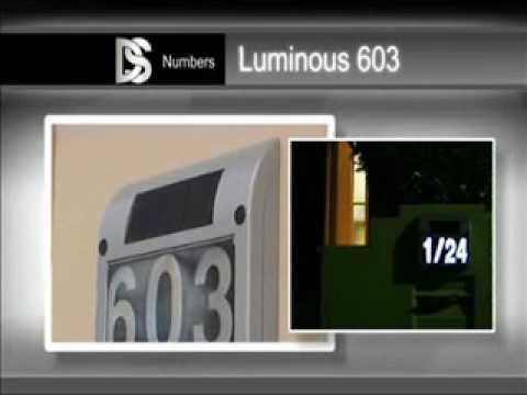Solar Powered House Numbers Australia - Powered Illuminated House Number