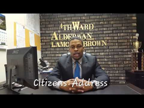 Alderman Lamont Brown address alleged assault