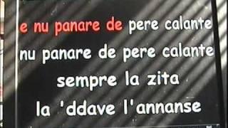 LA ZITA  -  (Tony Santagata) - base karaoke