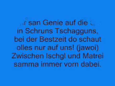 Hit von Fritz & The Downhill Gang -Genie auf die Ski + Text zum Mitsingen
