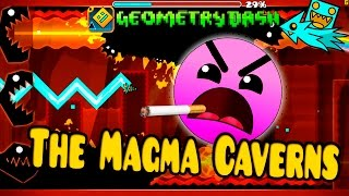 GEOMETRY DASH - 35 - The Magma Caverns by Nasgubb - NIVEL EPICO!!