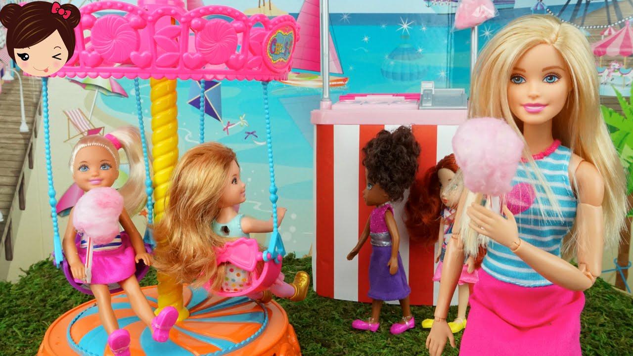 Barbie Lleva A Chelsea A La Feria Carrusel De Juguete Diy