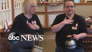 Waitresses receive $1,400 tip from charitable group