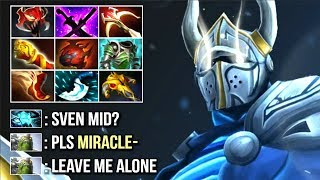 New Style Miracle- Pro Sven Mid vs Storm - Madness is Back! Epic Farm Speed Top MMR Game WTF Dota 2