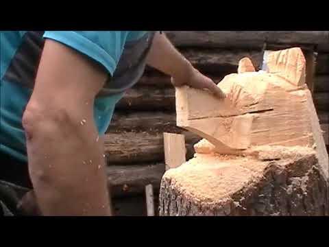 медведь деревянная скульптура на дачу